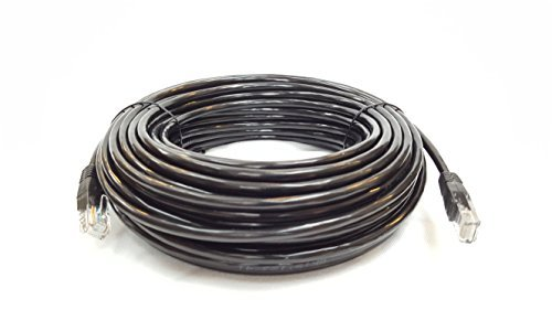 - Cable Sourcing - 100ft (30m) CAT5e cable, EXTERNAL (outdoor use) & INTERNAL, 100% SOLID COPPER, Ethernet, CCTV,, 10/100/1000mb, RJ45 Plugs, Networking & Patch Cable, DATA/LAN, BLACK