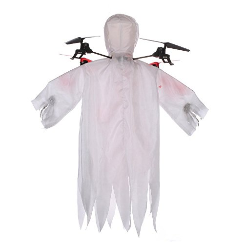 Top Race Halloween Ghost Drone, 6 Gyro 2.4 GHz Flying Ghost Quadcopter Drone Best Halloween Prank – TR-G1