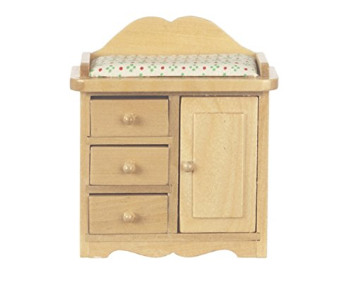 Melody Jane Dollhouse Light Oak Baby Changing Table Miniature 1:12 Scale Nursery Furniture