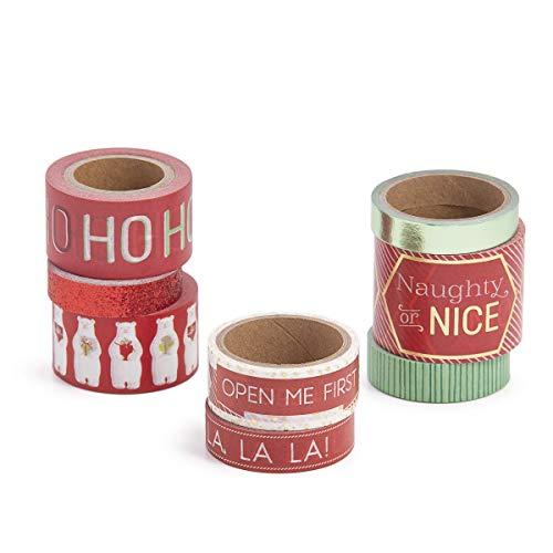 Martha Stewart 30068350 Washi Tape-Christmas Cheer, - Christmas Cheer Adhesive