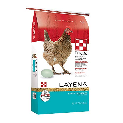 Purina Layena | Nutritionally Complete Layer Hen Feed Crumbles | 25 Pound (25 lb) Bag