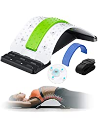 Back Stretcher, Enjoyee Spine Deck Back Pain Relief Products with Magnetic Acupressure Points, Spine Deck Back Stretcher Lower Back Pain Relief for Herniated Disc, Sciatica and Scoliosis White