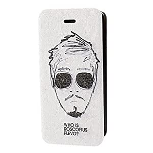 SHOUJIKE Handsome Boy With Sunglasses Pattern Full Body Case for iPhone 5C