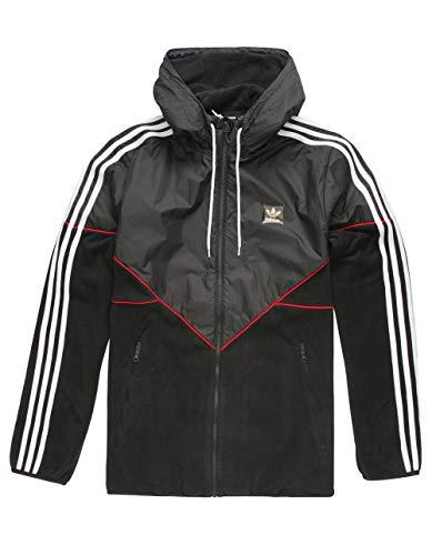 adidas - Mens Premiere Fleece Jacket, Black/Utility Black/Scarlet, S ()