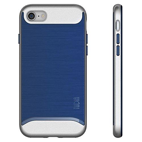 iPhone 7 Funda, Caja protectora TUDIA MERGE TAREA PESADA Protección EXTREME de doble capa para iPhone 7 (Negro) Azul