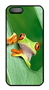 iPhone 5 5S Case Tree Frog PC Custom iPhone 5 5S Case Cover Black