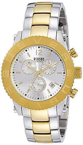 Versus by Versace Men's SOH010015 Madison Analog Display Quartz Two Tone Watch (Gold Versus Watches For Men)