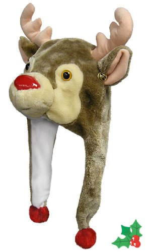 Christmas Rudolph Reindeer Poms Bells product image