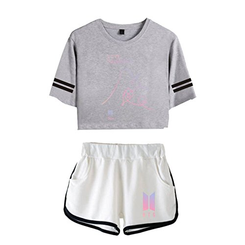CTOOO t Shirt e Pantaloncini Corta BTS Love YOURSEL Donna XS-XXL 11