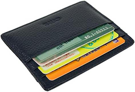 OMT Slim Leather Front Pocket Credit Card Holder Sleeve Case Wallet with ID Window