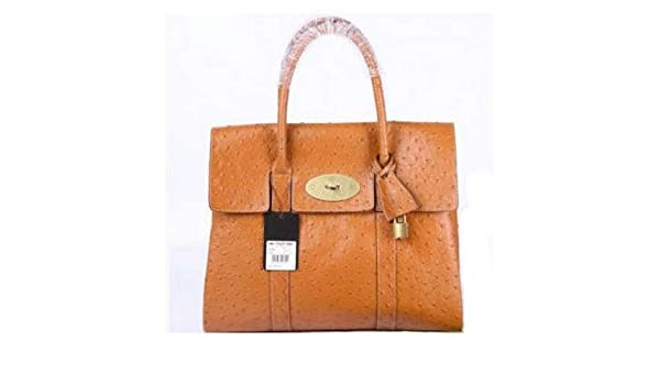df977d5228 Amazon.com   Mulberry Bag Bayswater HandBags Clutch Ostrich Oak   Cosmetic Tote  Bags   Beauty