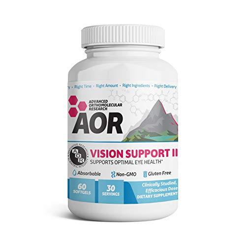 AOR - Vision Support II, Natural Supplement to Support Eye Health, with Lutein and Zeaxanthin, Gluten Free, 60 capsules (30 servings)