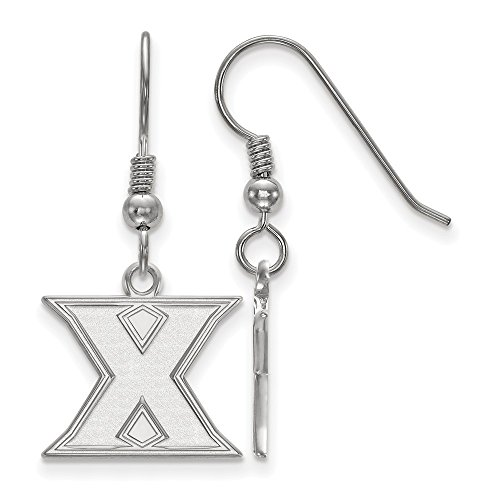 925 Sterling Silver Officially Licensed Xavier University College Small Dangle Wire Earrings by Mia Diamonds and Co.