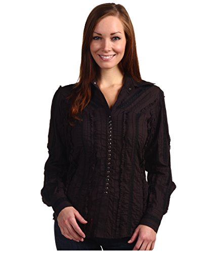 Scully Women's Tone-On-Tone Lace Top Black Medium