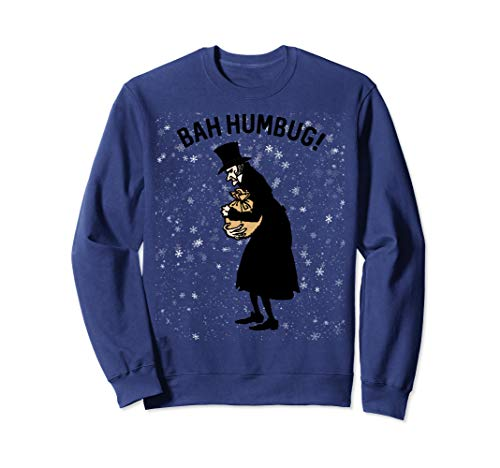 Retro Christmas Gifts Winter Top Hat Scrooge Xmas Bah Humbug Sweatshirt (Christmas Jumpers Humbug)