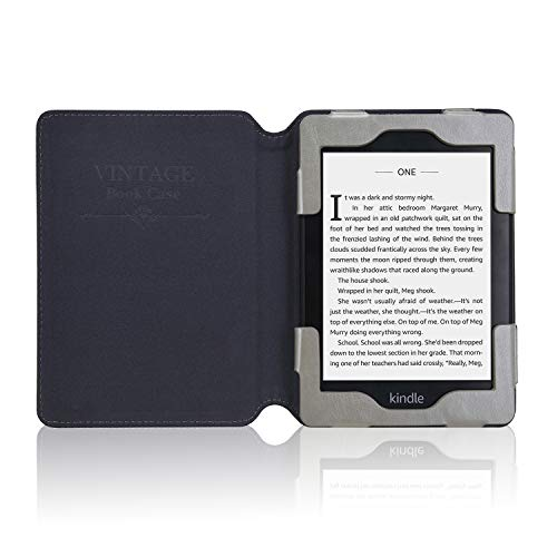 ACdream Kindle Paperwhite Case 2018, Folio Smart Cover Leather Case with Auto Sleep Wake Feature for All New and Previous Kindle Paperwhite Models, Grey