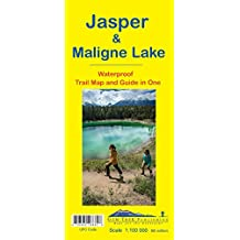 Jasper & Maligne Lake Waterproof Trail Map and Guide