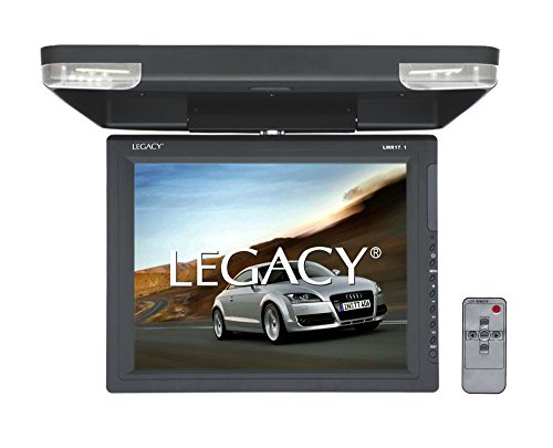 Legacy - 15'' Car Flip Down Display Monitor, Hi-Res Vehicle Roof Mount LCD Video Screen and IR Transmitter