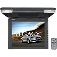 Legacy - 15 Car Flip Down Display Monitor, Hi-Res Vehicle Roof Mount LCD Video Screen and IR Transmitter