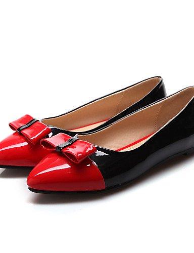 plano orange 5 Casual zapatos uk4 mujeres 5 de blanco Flats cn37 talón señaló las rojo PDX Toe naranja verde eu37 7 us6 5 Xa6qw