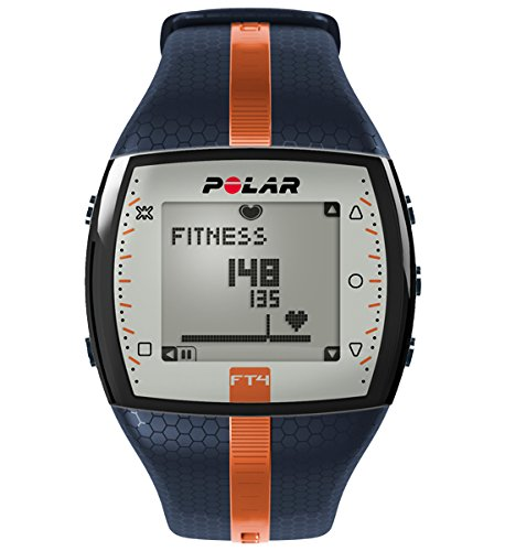 363 opinioni per Polar FT4 Cardiofrequenzimetro, Blu/Arancio
