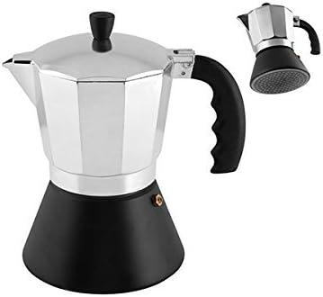 HOME Cafetera de 9 Tazas, Fondo inducción, Aluminio, Plata/Negro, 17 x 13 x 22 cm: Amazon.es: Hogar