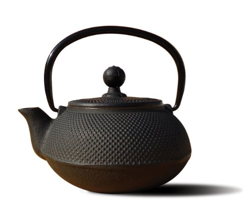 Old Dutch Cast Iron Sapporo Teapot, 20-Ounce, Black -