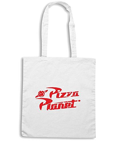 T-Shirtshock - Bolsa para la compra TGAM0059 Pizza Planet Blanco