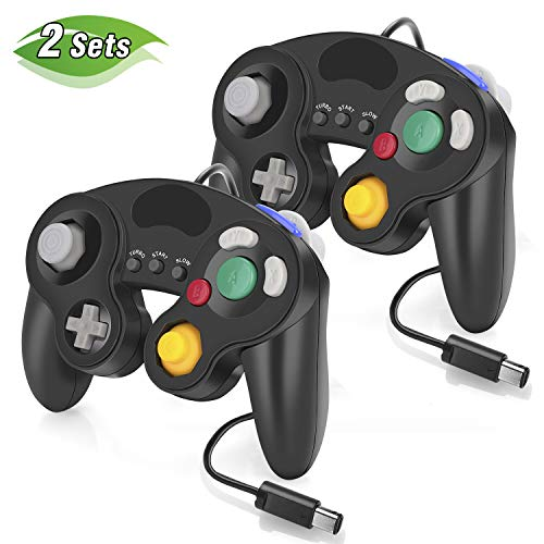 Gamecube Controller for Nintendo Switch, 2 Pack Wired Classic Game Cube NGC Controllers for Wii Nintendo Super Smash Bros Ultimate with Turbo Function (Black)