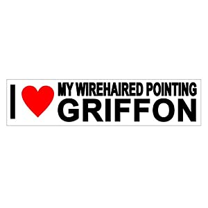 JS Artworks I Love My Wirehaired Pointing Griffon Vinyl Sticker Decal 2