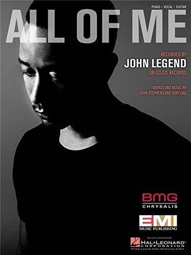 Legend Piano Sheet John (John Legend - All Of Me - Sheet Music Single)