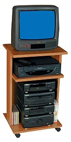 Noce scuro L 41 cm x P 35 cm x H 74 cm Carrello Porta TV 331
