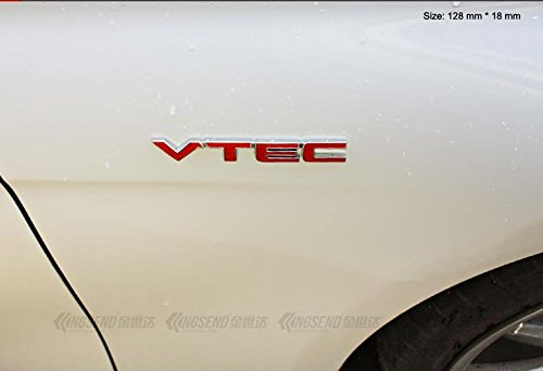 B151 VTEC red car Sticker 3D Emblem Badge Badge Lettering car Sticker Tuning