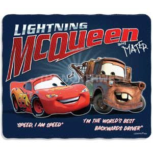 UPC 087918820401, Disney Cars Flashback Tow Mater and McQueen Fleece Blanket Throw NEW