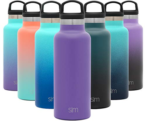 Simple Modern 17oz Ascent Water Bottle - Stainless Steel Flask w/Handle Lid - Hydro Double Wall Tumbler Vacuum Insulated Purple Small Reusable Metal Leakproof -Lilac