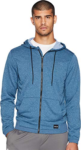 Zip Hurley Hoody - Hurley Men's Nike Dri-Fit Disperse Fleece Hoodie, Force//Work Blue, L