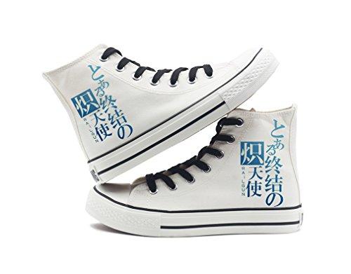 Seraph De La Fin Anime Chaussures De Toile Cosplay Chaussures Sneakers Noir / Blanc Blanc 10