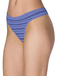 Barely There CustomFlex Fit Nylon Spandex Thong (Oxygen Stripe)