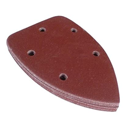 20 140mm 60 Grit Mouse Corner Sanding Sheets 5 Dust Holes Toolpak