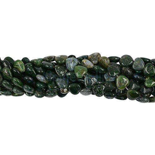 Heart-shaped 10x10mm Grass Moss Agate Gemstone Purple Heart Loose Beads 15