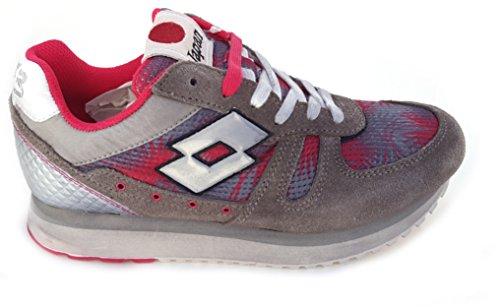 Lotto Leggenda, Tokyo wedge W, Donna, Sneaker, Multicolore, Grigio, Cement