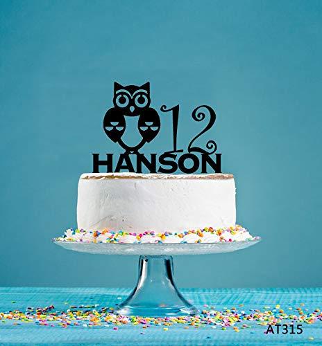 Owl Birthday Cake Topper Personalized Cake Topper Birthday Cake ...