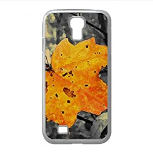 Yellow Leaf Watercolor style Cover Samsung Galaxy S4 I9500 Case (Autumn Watercolor style Cover Samsung Galaxy S4 I9500 Case)
