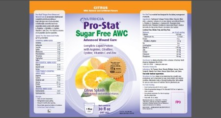 Pro-Stat Sugar Free AWC - Citrus Splash, 30 fl oz (Case of 4 ()