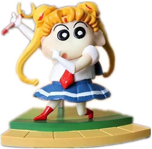 brandless Figura de Anime Figura de Anime Figura de Crayou Shin-Chan Figura de Estilo Sailor Moon y Naruto Figura de accion (Color Luf