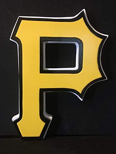 (Pittsburgh Pirates Wood Logo Sign)