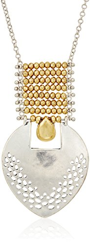 Lucky Brand Two Tone Openwork Pendant Necklace, 28