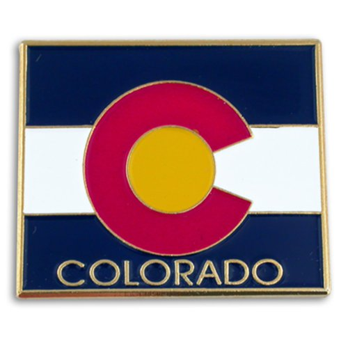 (PinMart State Shape of Colorado and Colorado Flag Lapel Pin 1-1/8