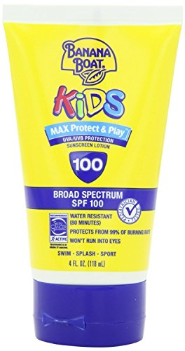 Banana Boat Kids Max Protect Play Broad Spectrum Sunscreen SPF 100 4 oz Pack of 3