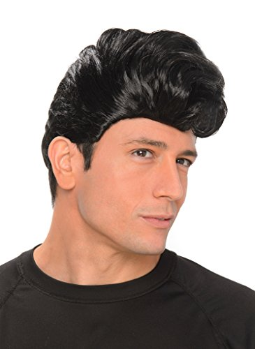 Crazy Halloween Hairdos (50s Greaser Wig - Halloween Mens Rock and Roll Hair Costume Accessory,)